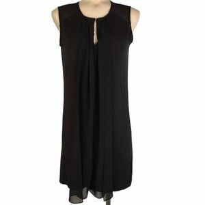 H By Halston Black Sleeveless Dress Sheer-Detail